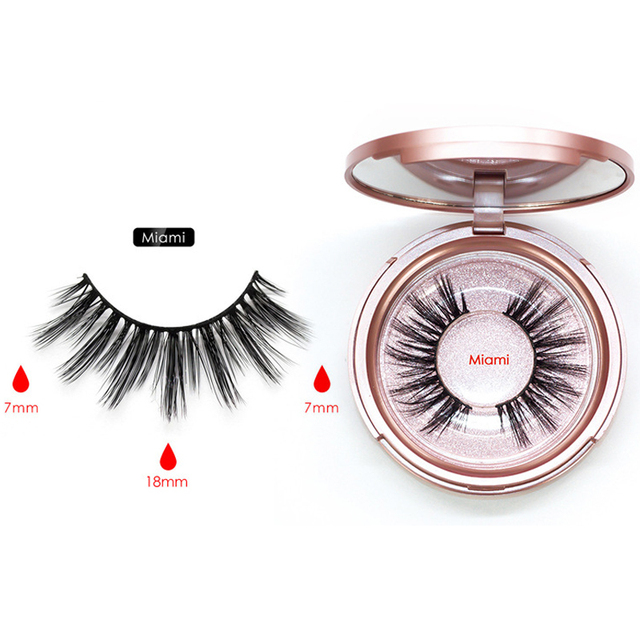 Magnetic Eyeliner Eyelashes Set Natural Thick Handmade No Glue Prevent Allergy Magnetic Fake Eyelashes With Eyelashes Applicator 5