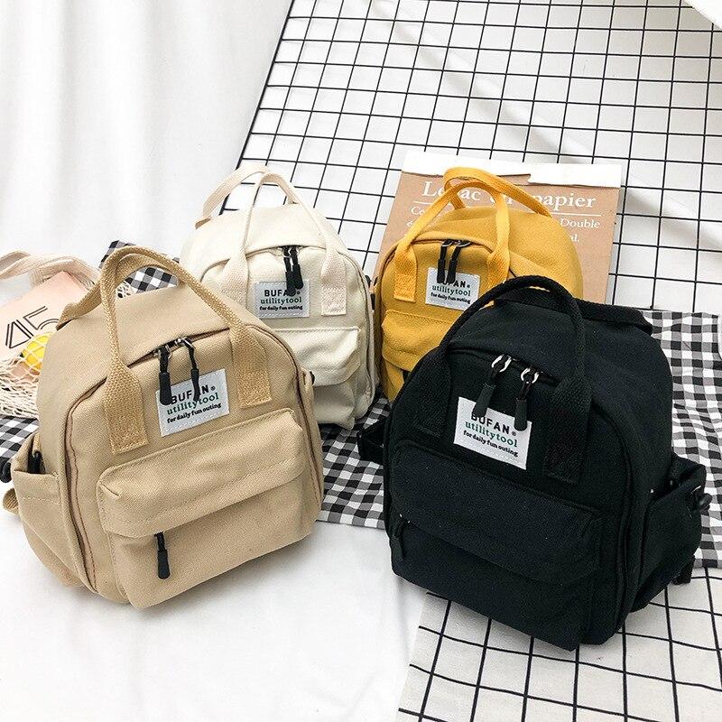 Korea Lovely Ins Soft Bag Female Student Japanese Harajuku Backpack Small Fresh Ulzzang Black Yellow White Khaki Backpack 2019