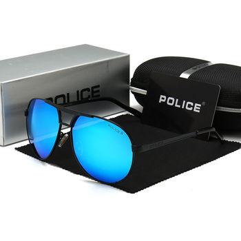 Policja mężczyźni markowe okulary przeciwsłoneczne designerskie okulary przeciwsłoneczne policja klasyczne spolaryzowane lustro moda lunette de soleil męskie tanie i dobre opinie POLICE IT (pochodzenie) Pilotki Dla osób dorosłych STOP UV400