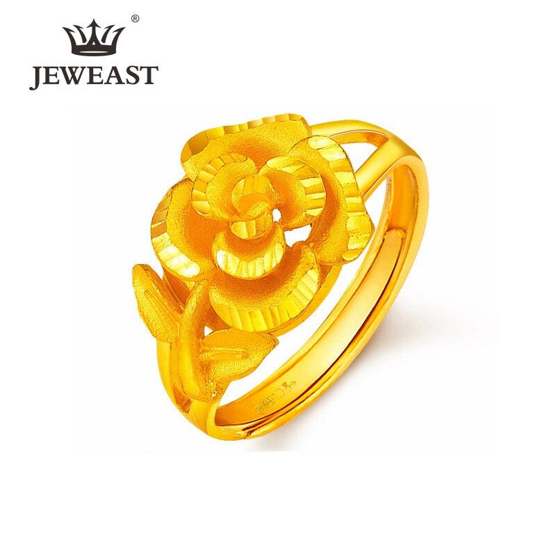 YSF 24K bague en or pur véritable AU 999 en or massif agréable élégant charmant Rose haut de gamme à la mode classique Fine bijoux vente chaude nouveau 2020