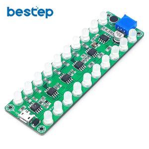 Усилитель мощности с голосовой активацией, измеритель уровня звука, светодиодный индикатор, световая мелодия, аудиоусилитель, 3 цвета, смеш...