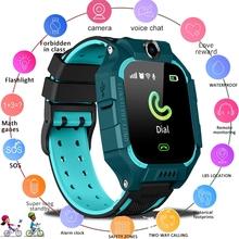 IP67 Smartwatch dla dzieci chłopcy dziewczęta prezent Smartwatch z kamera na kartę Sim Smartwatch dla dzieci zegarek na telefon SOS tanie tanio 3Bar Moda casual Cyfrowy Poliester NONE CN (pochodzenie)