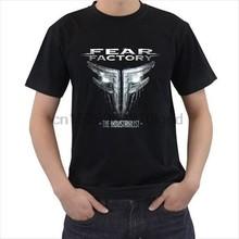 Melhor t camisas dos homens de manga curta gráfico tripulação pescoço medo fábrica o industrial t camisas