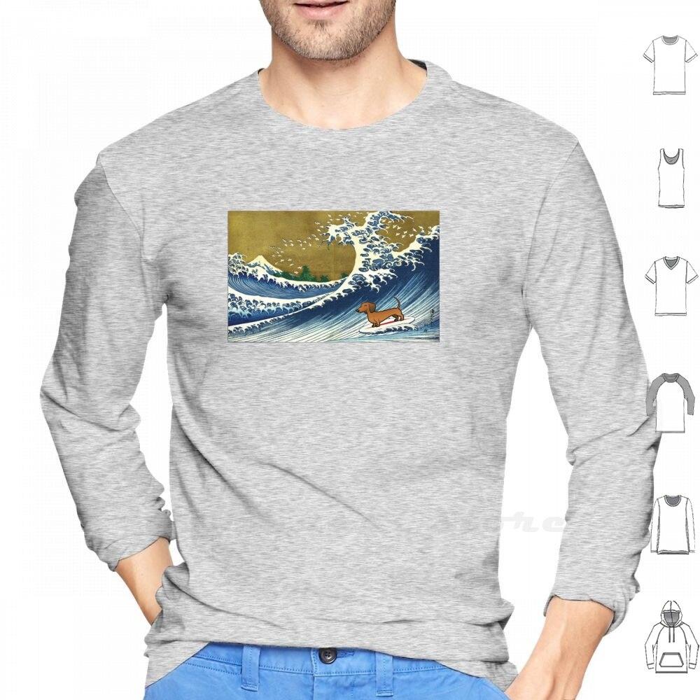 Такса вейнер собака серфинг футболка с длинным рукавом такса Вайнер собака Wiener Doxon Doxy Daschund Weenie Dog такса мама