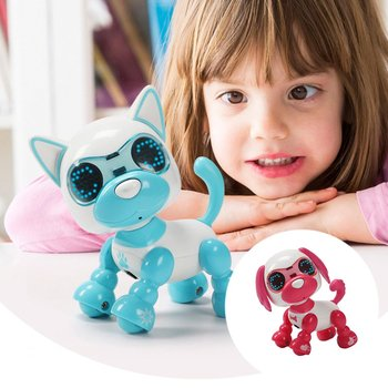 Cool Robot Dog Pet Toy Kids Smart Interactive Walking Sound Puppy LED Record Educational Intelligent Electronic Robot toy Gifts electronic pet toy dogs with music sing dance walking intelligent mechanical infrared sensing smart robot dog toy animal gift