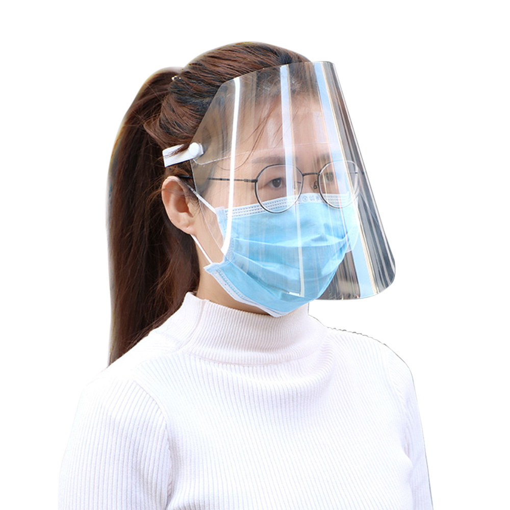 20pcs Anti-Splash Clear Face Cover with clear Vision and Elastic Headband for Full Face Protection 6