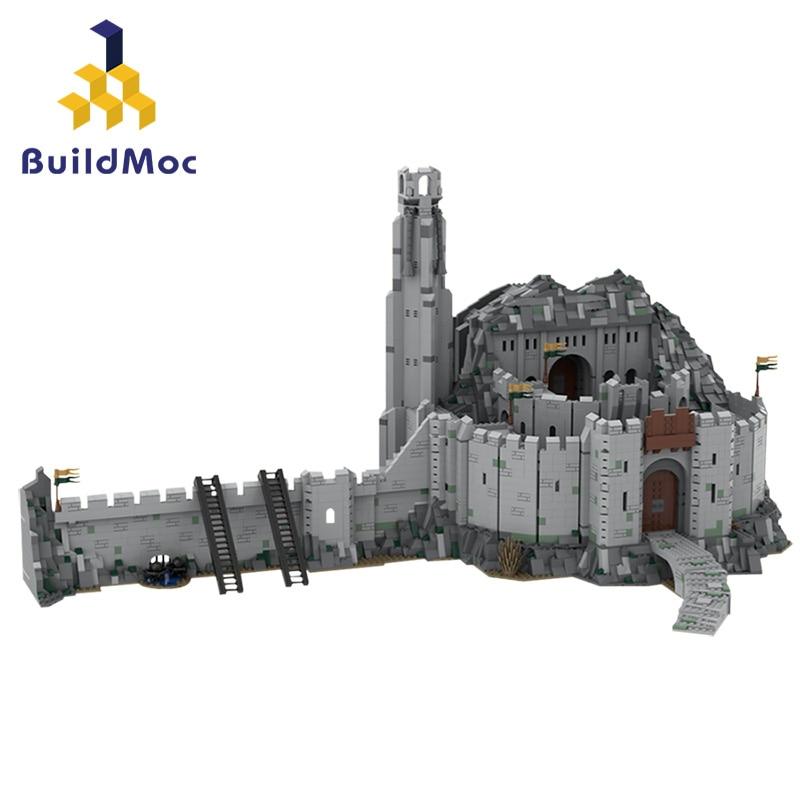 Строительные блоки Buildmoc's Deep UCS Scale, крепость войны, всемирно известный средневековый замок, архитектура, игрушка