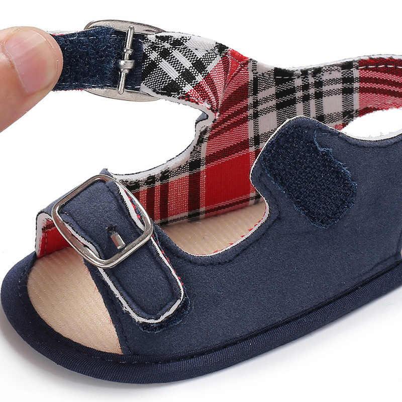 Baby Baby Schoenen Meisje Jongen Sandalen Pu Gesp Katoen Zachte Anti-Slip Zool Toevallige Peuter Crib Schoenen Kleine meisje Sandalen