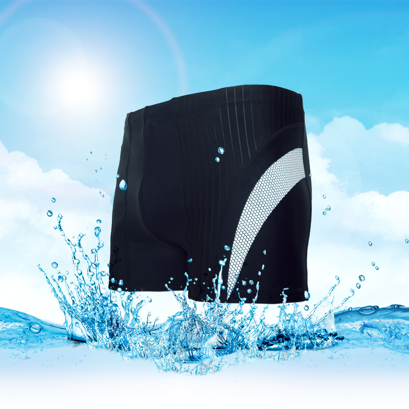 New Style 3D Reflective Strips Hot Springs Beach-Joint Drainage Fabric Men Boxer Swimming Trunks Clothing Quick-Dry