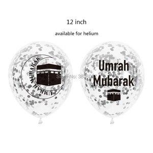 Image 3 - umrah mubarak balloons eid mubarak  Islam Muslim new year festival party decorations letter foil balloon banner