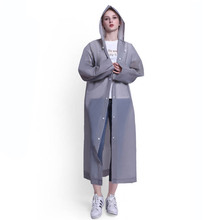 Fashion EVA Women Raincoat Thickened Waterproof Rain Coat Clear transparent raincoat Camping Rainwear Poncho