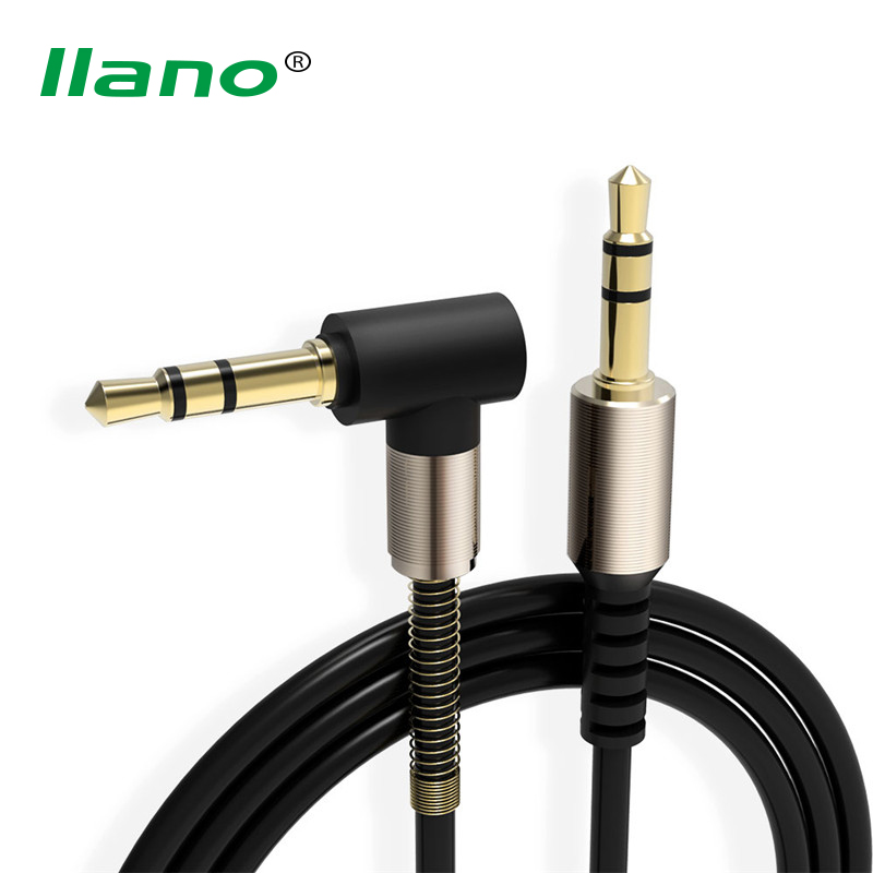 Llano 3.5 Mm Audio Cable 1M Nylon Braid Car Amplifier Aux Cord For Car Phone Tablet Headset Louder Audio Extension Cable
