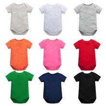 Baby Bodysuits Newborn Clothes Body Bebe Short Sleeve Solid color Summer Brand New Infant Jumpsuit Baby Girl Boys Clothes