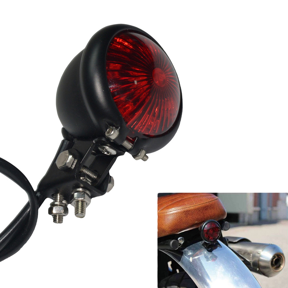 Motorcycle LED Turn Signal Tail Brake Stop Light Chopper Cafe Racer Project Bike