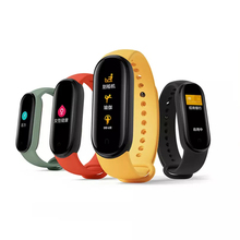 Oryginalny Xiaomi Mi zespół 5 nadgarstek 4 kolor tętno Fitness Tracker Bluetooth Sport bransoletka AMOLED ekran Miband 5 tanie tanio Kolorowy WYŚWIETLACZ LCD Wszystko kompatybilny SİLİCA Passometer Wiadomość przypomnienie Przypomnienie połączeń