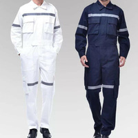 Work Clothing Unisex Reflective strip Long Sleeve Coveralls Protective Cloth for Worker Repairman Machine Auto Repair Welding D8
