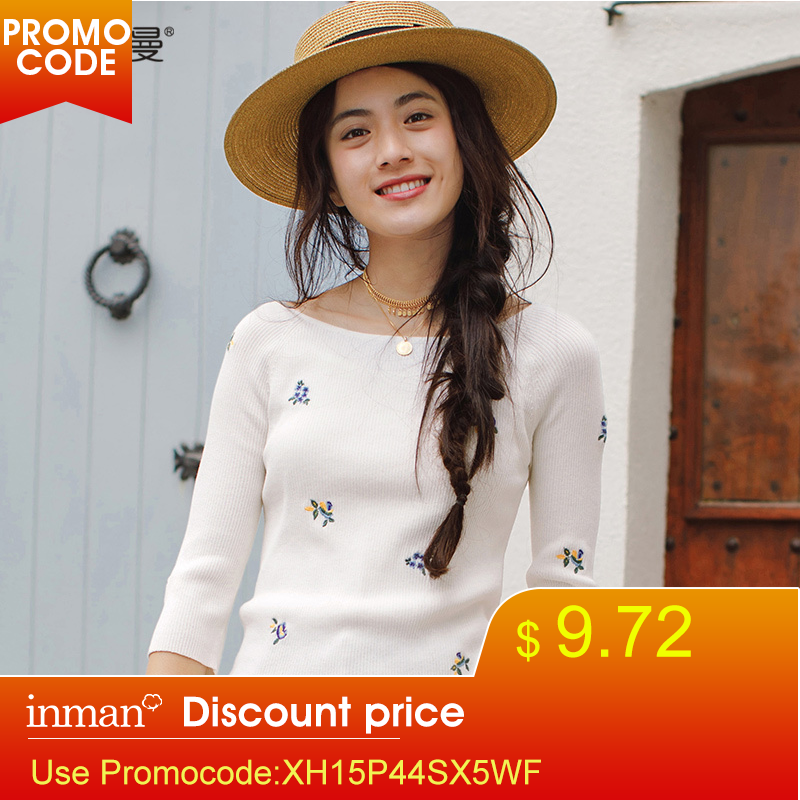 INMAN Spring Clothes Round Neck Embroidered Women Sweaters And Pullovers Sweater Women Women