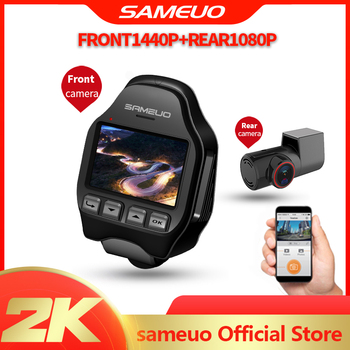 Sameuo car dvr camera dash cam auto video recorder built in wifi hd 1080p front and rear 24H Parking Monitor U600 night vision 1