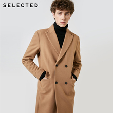 SELECTED 가을 겨울 신작 남성 모직 코트 빈티지 비즈니스 긴 모직 아웃웨어 재킷 코트 T