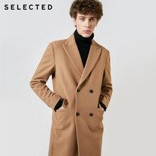 Selecionado outono & inverno novo casaco de lã masculina vintage negócio longo casaco de lã outwear t