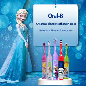Image 5 - Oral B Children Electric Toothbrush Oral hygiene Teeth Cleaner Kids Stage Power Rotation Cartoon Sonic Tooth brush For Child