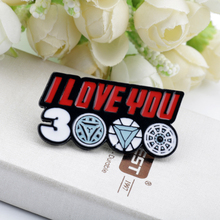 I Love You 3000 Times Badge Brooch Iron Man Tony Stark The Avengers Spider-Man Captain Marvel Thanos Pins Brooches Jewelry
