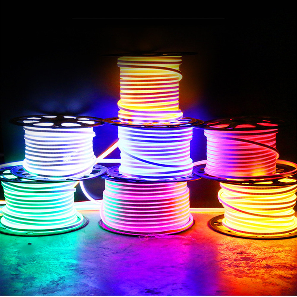 neon lights 220v led strip light Flexible Waterproof Outdoor rooms Christmas decoration Lamp fita LED bar Living room EU US plug