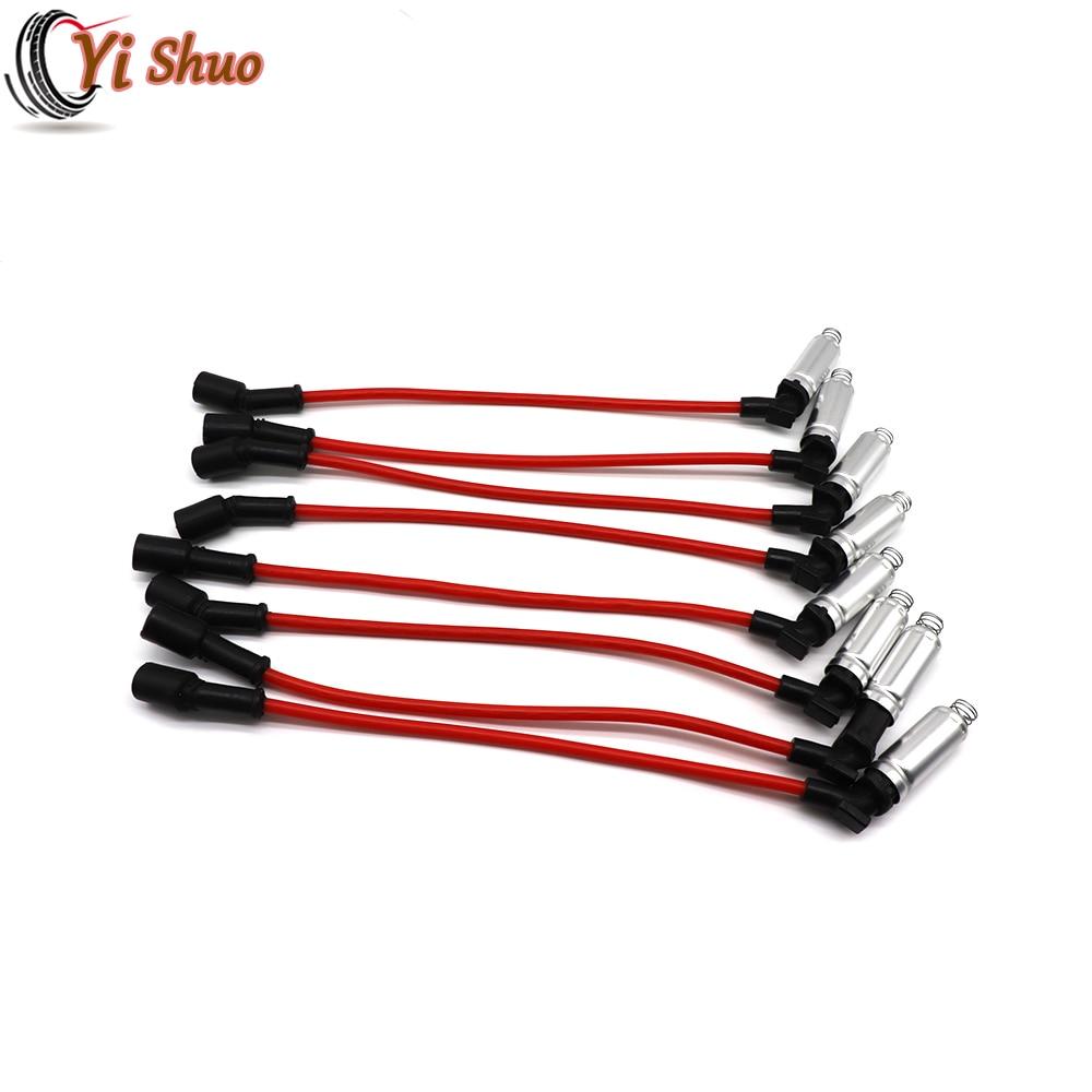 8pcs Ignition Spark Plug Wire Kit Set Cable 48322R For Chevrolet Silverado Tahoe GMC Savana Sierra Hummer H2 H3 Isuzu Ascender