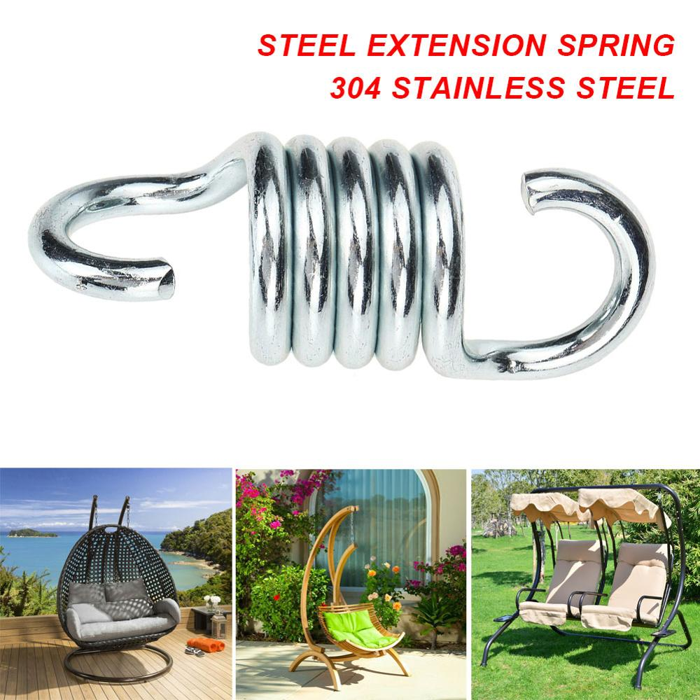 2Pcs S Shaped Heavy Duty Strong Extension Spring Garden Swing Hammock Chair HOT