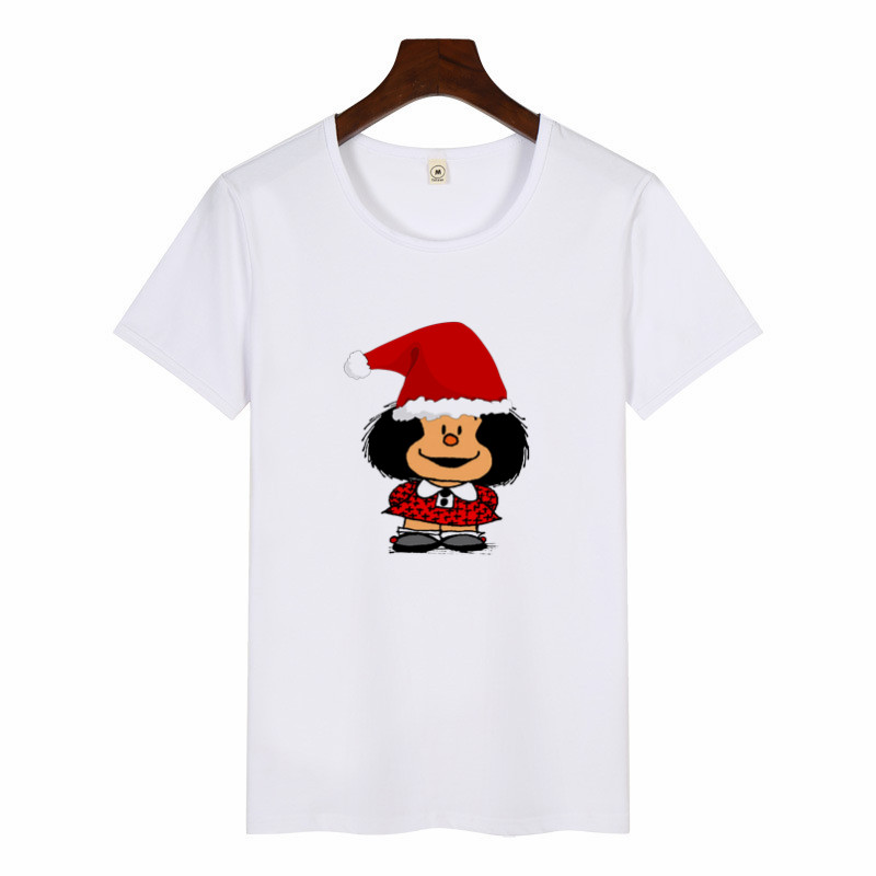 Cartoon Cute Toda Mafalda Print T Shirt 2020 Women Short Sleeve Tops Girls Casual Kawaii T-shirts Fashion O-neck Tshirt Harajuku