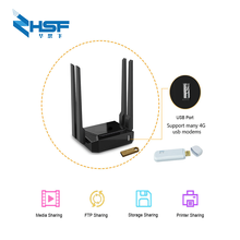 300Mbps wifi router support zyxel and Keenetic Omni II 3g usb modem 8372 /e3372 MT7620 chip OpenWrt router with usb wfi antenna