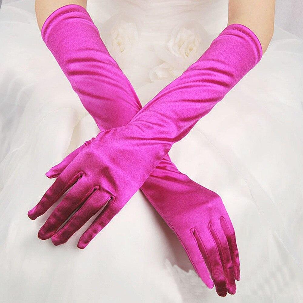 Guantes Moda de Malla Larga para Mujer Guantes sin Dedos Huecos Punk Multicolor Night Club Guantes Atractivos Mujeres