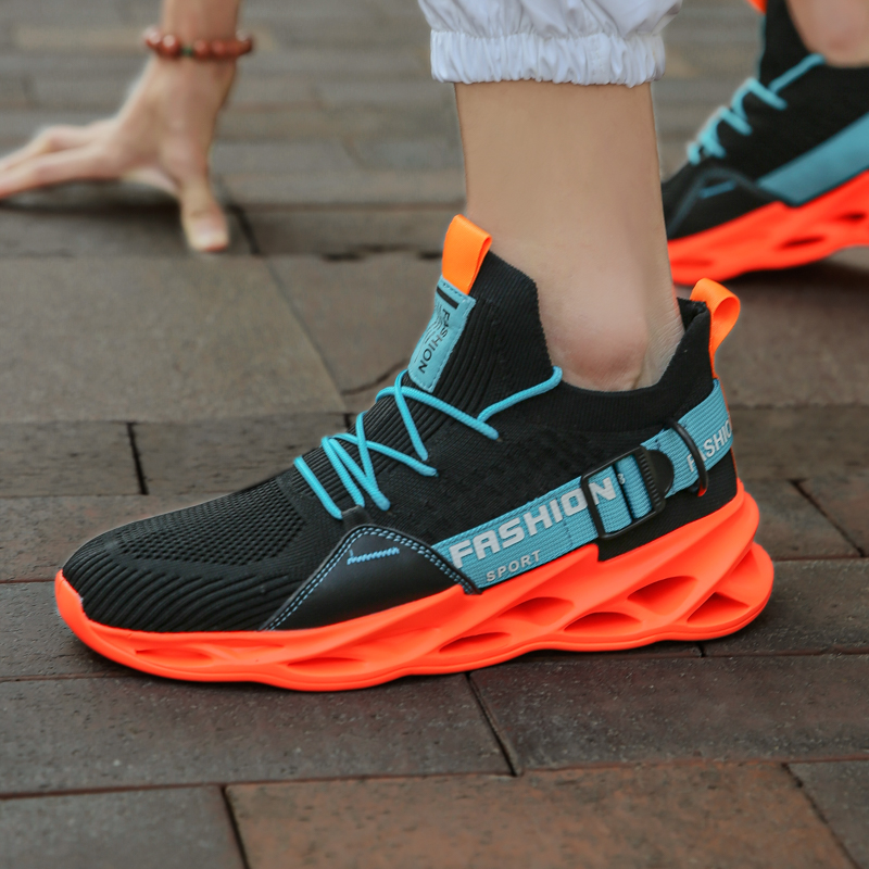 SENTA Breathable Men Running Shoes Shock Absorption Cushion Lightweight Comfortable Footwear Outdoor Sports Sneakers Multicolor