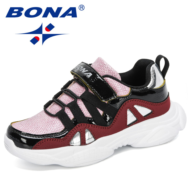 BONA 2020 New Designers Fashion Sneakers Kids Outdoor Trainers Children School Sport Shoes Running Shoes Boys Jogging Shoes Girl