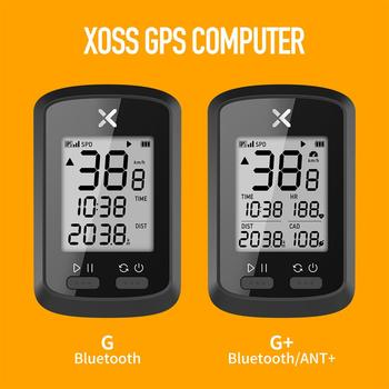 XOSS GPS Bike Computer G+ Wireless Cycling Speedometer Road Bike MTB Waterproof Bluetooth ANT+ Cadence Speed Bicycle Computer igs50e 40 hours long battery life gps sport bike gps bicycle gps bike computer workable with speed cadence heart rate