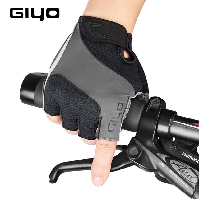 Giyo luvas sem dedos para ciclismo, luva de gel respirável para homens e mulheres para esportes ao ar livre, mtb, corrida de estrada e ciclismo dh 6