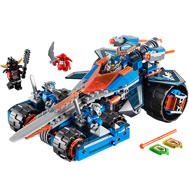 New 392pcs Nexoes Knight Clay's Rumble Blade Model Building Blocks Compatible Legoingly 70315 Nexus Jestro Clay Toy For Children