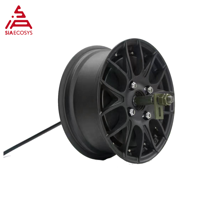 Super Power Qs 5000W V4 72V100KPH 12*5.0inch Width Single Shaft In-wheel Hub Motor Detachable Design