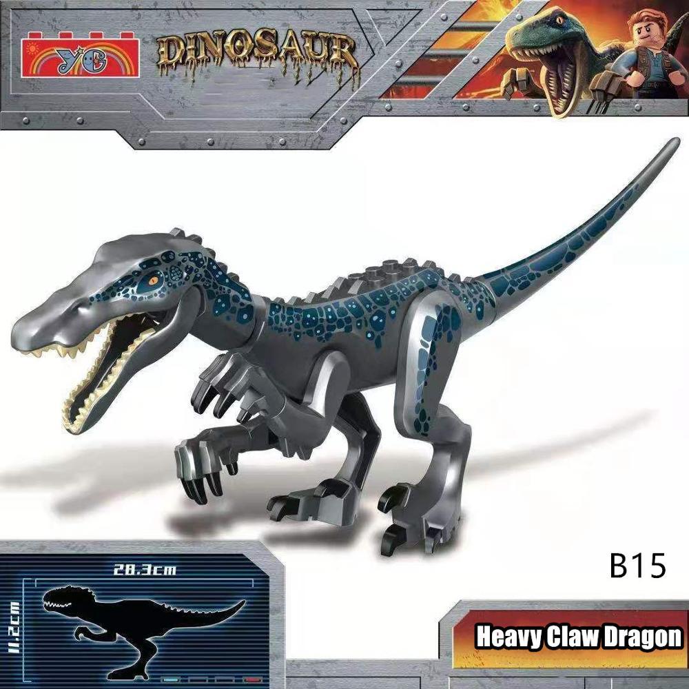 Nuevo Jurásico parque mundial dinosaurios ladrillos niños Juguetes compatibles Legoing bloques de construcción Juguetes dinosaurio para niños regalos de bricolaje