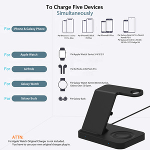 Image 2 - 15W Qi Wireless Charger 5 in 1 Charging Dock Station for Samsung Galaxy Watch Buds Gear For Apple iWatch iPhone 11 X Airpods Pro