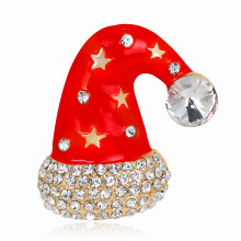 Wholesale Christmas necklace jewelry Korean fashion cartoon cute hat brooch alloy drop corsage