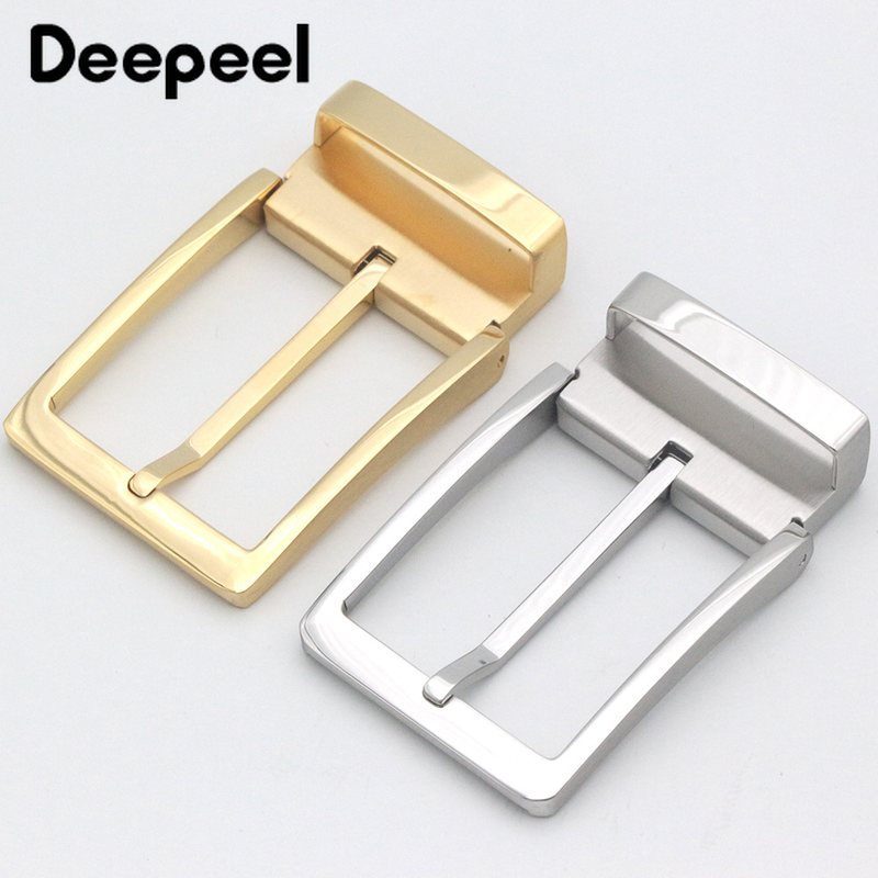 Deepeel 35mm/39mm Men's Stainless Steel Belt Buckle For 33-34mm/36-38mm Brand Pin Buckle Belt Lead DIY Leather Craft Accessories