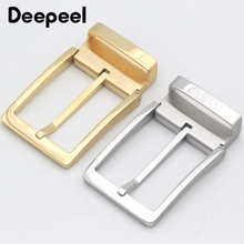 Deepeel 35mm/39mm Men's Stainless Steel Belt Buckle for 33-34mm/36-38mm Brand Pin Lead DIY Leather Craft Accessories