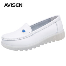 2019 New Women Flat Shoes Leather Casual