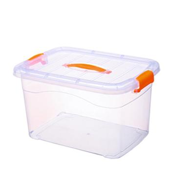 5 Pcs/Lot 15L Thicken Storage Box Plastic Transparent Large Thickened Clothes Portable Toys Sorting