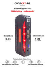 OBDIICAT D8 Car Jump Starter 12V Portable Car Charger Start Jumper Emergency Car Battery Booster Buster Jumpstarter