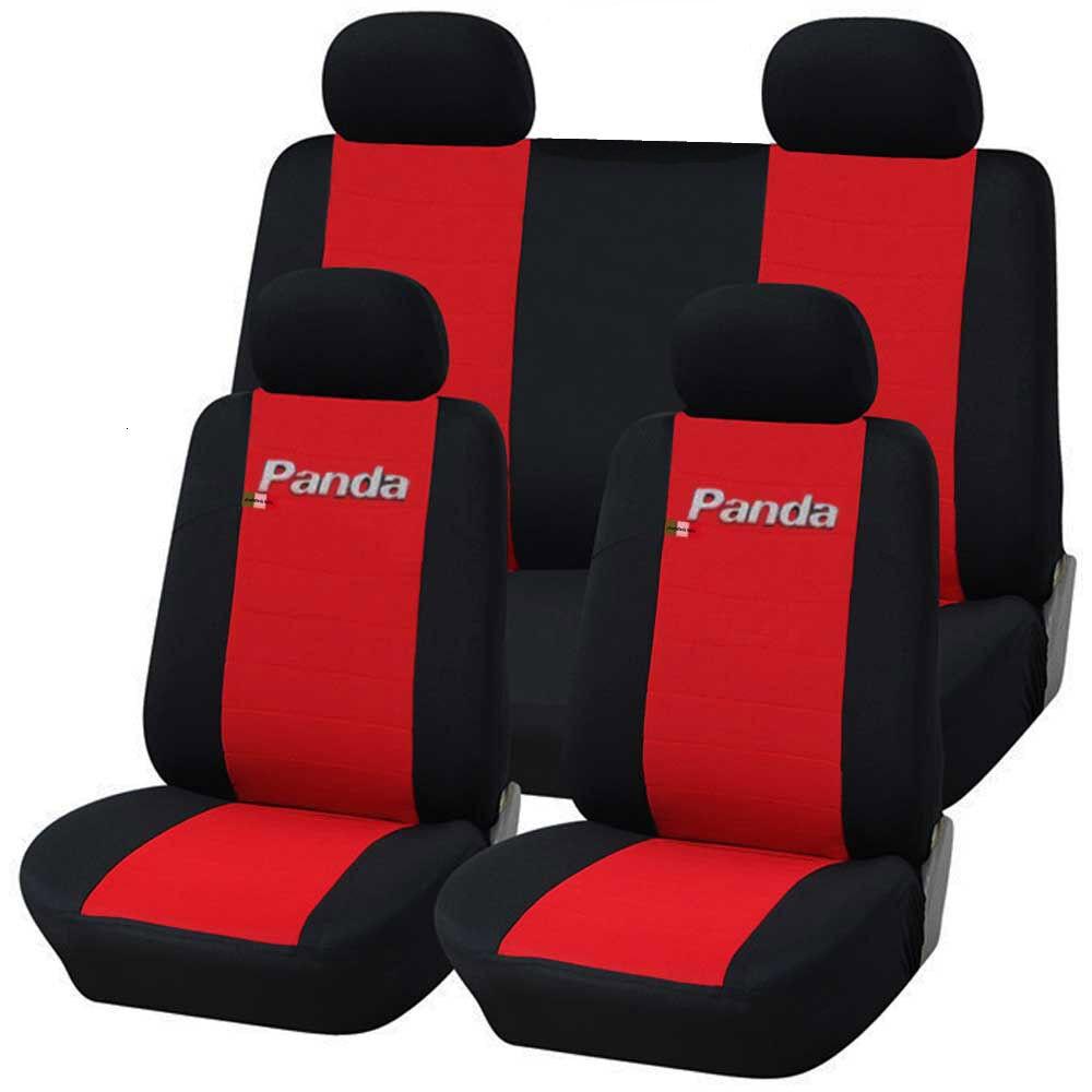 COPRISEDILI AUTO FIAT PANDA DAL 2012 POSTER. 50/50 BICOLORE ROSSO - NERO