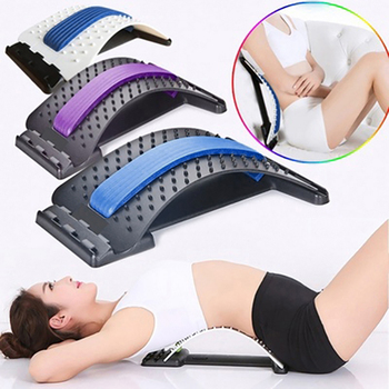 Back Massager Stretcher Equipment Magic Stretch Fitness Lumbar Massage Tools Support Relaxation Pain Relief Spine Chiropractic neck back head massager stretcher cervical traction stretch gear brace device kit adjustment chiropractic pain relief relaxation