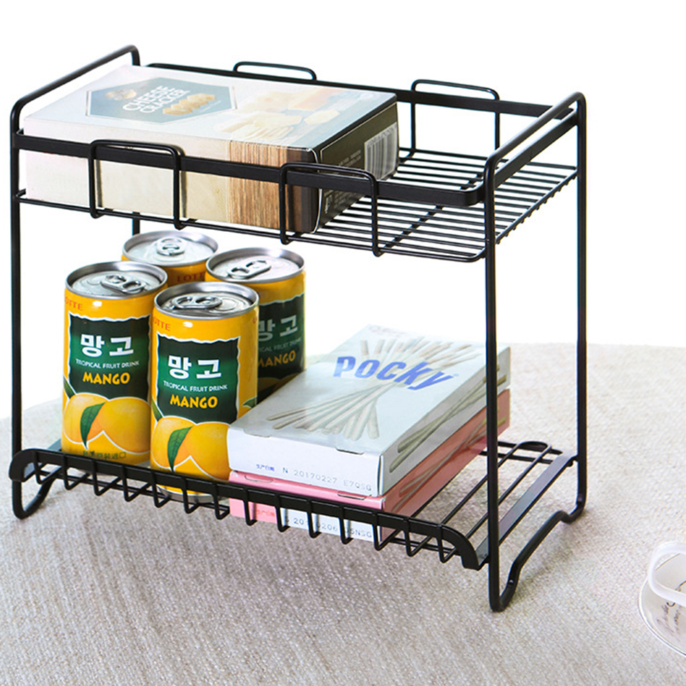 bathroom  washing room household double wrought iron storage rack floor seasoning shelf bathroom vanity finishing rack