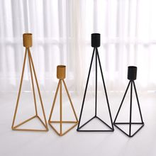 Stand Candlestick Tealight Triangle Table-Decor Geometric Wedding Home Gifts Party